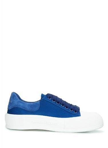 Alexander McQueen Alexander McQueen  Kadın Kanvas Sneaker 101611812 Mavi
